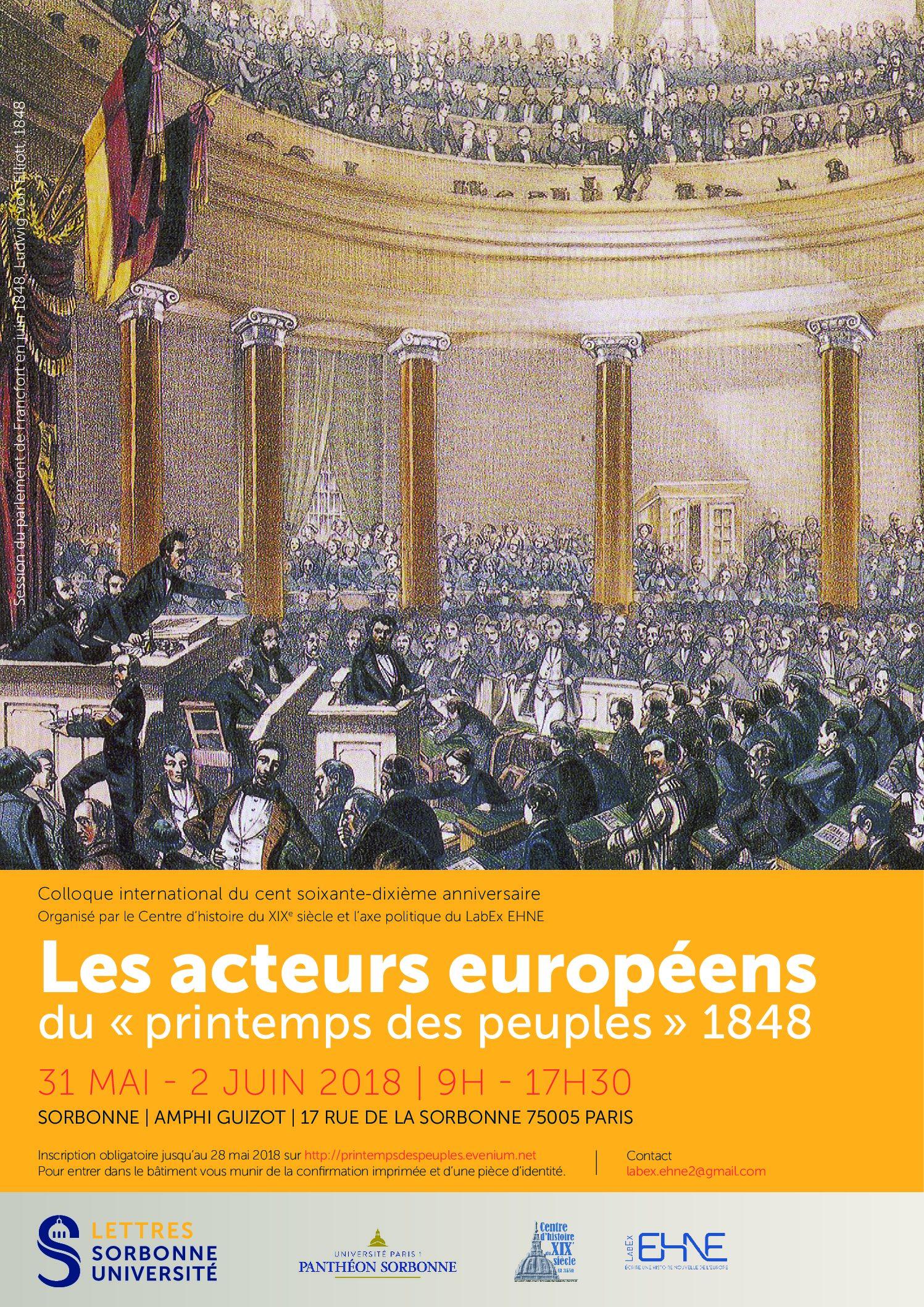 Les acteurs européens du «printemps des peuples» 1848